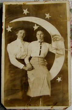 Steampunk Lesbians (?) - Victorian-ish photo postcard | Flickr - Photo Sharing!
