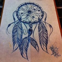 Dreamcatcher Tattoo Design by linda