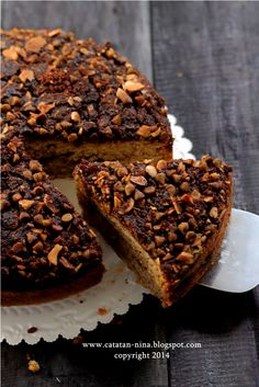 Catatan Nina: BANANA CHOCOCHIPS CRUMBLE CAKE