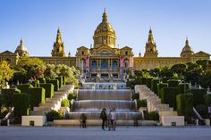 Museu Nacional d'Art de Catalunya Barcelona Catalonia Spain  www.alamy.com/image-details-popup.asp?ARef=FWCDX2  #spain #barcelona #catalonia #architecture #art #national #museum #montjuic #palace #landmark #fountain #city #europe #famous #steps #catalunya #building #spanish #urban #european #history #nacional #travel #castle #culture #tourism #museu #architectural #day #horizontal