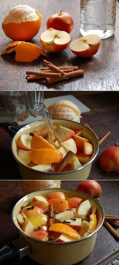 Apples, Cinnamon, Oranges This is probably the smell of Fall, but I don't care. It could be the middle of a hot summer and I'd be fine with my house smelling like this. And to be honest.. Fall is my favorite season anyhow so that's probably why I'm a bit partial.