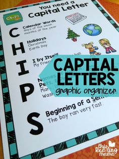Capital Letters Graphic Organizer for Young Writers {FREE} - This Reading Mama
