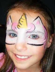 unicorn face paint - Google Search