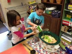 Stone Soup - we started with a stone, each child brought a little something to share and the teacher brought some broth.  Delicious learning experience!