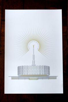 Provo, Utah LDS Temple 13x19 print by Fine Fettle Studio  We love Temples at: www.MormonFavorites.com