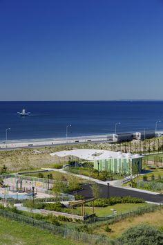 PlaNYC Far Rockaway Park Masterplan and Parks Structures | WXY Architecture + Urban Design; Photo: Albert Vecerka/ESTO | Archinect