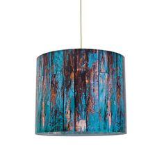 Turquoise Wood Lampshade, £71.30, now featured on Fab.