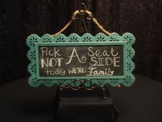 Small Chalkboard, Teal Ornate Frame Available to Rent! www.gycrentals.com