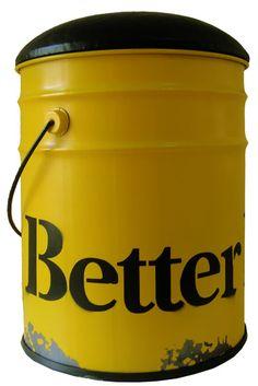 Pufe e Báu Lata Better Home Amarelo