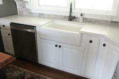Installing Undermount Farmhouse Sink with Silestone Lyra Suede finish countertops