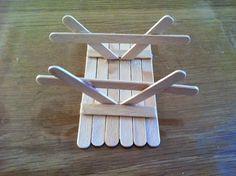 Mini picknicktafel van ijsstokjes - Duurzaam houten speelgoed