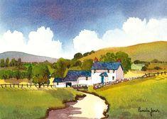 Original Watercolour Painting Welsh Hill Farm Welsh