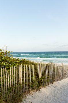 Seaside, Florida Seascape Beach Photo by UninventedColors on Etsy (ocean, sand, fence, sky) Seaside Florida, Clearwater Florida, Florida Beaches, Florida Trips, Florida Keys, Seascape Art, I Love The Beach, Beach Aesthetic, Beach Scenes