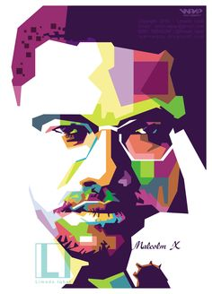 Malcolm X in WPAP . . For order contact me ^_^ . . . #art #wpap #malcolm #popart #vector #wedhaspopartportrait #fullcolor #order #gift #special #birthday #bestvector