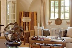 Having redecorated their (Francois & Betty Cartoux) apartment in Paris, the couple next turned their focus on their country home in Provence. French Interior, Luxury Interior, Provence Style, Provence France, French Country House, Country Living, Interior Decorating, Interior Design, Paris Apartments