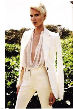 vogue print pant suit women | Sheer White Glam: Suits (Part II) | Cristina