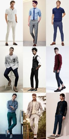 Men's Sockless/Invisible Socks Outfit Inspiration Lookbook