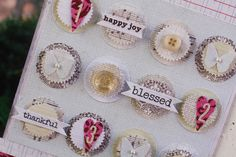 Love the layering - circle punch and pinked circle punch - lily bee design