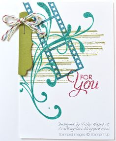 Stampin' Up ideas and supplies from Vicky at Crafting Clare's Paper Moments: Everything Eleanor on Filmstrip