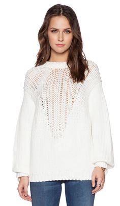 Tibi Cozy Pullover in Ivory