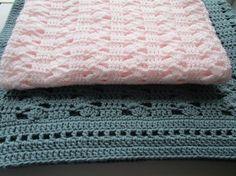 Easy Crochet Blanket Pattern, Interlocking Shell Stitch, Crochet Afghan Pattern, Christening Baby Blanket, Instructions to make it ANY size!