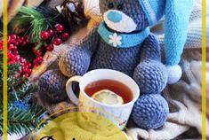Lindo Oso de peluche amigurumi patrón gratis Bear, Knitting, How To Make, Handmade, Gifts, Diy, Free, Crochet Disney, Crocheted Toys