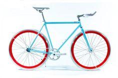 Images of Customized 700C Chromoly Frame Blue Single Speed Fixie Bikes For Women / Men - customroadbike