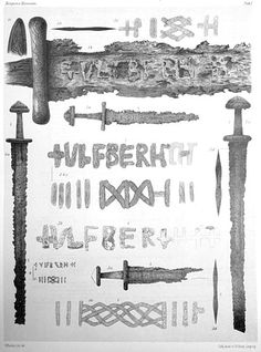 Four Ulfberht swords found in Norway (drawings from Lorange 1889) - Wikipedia