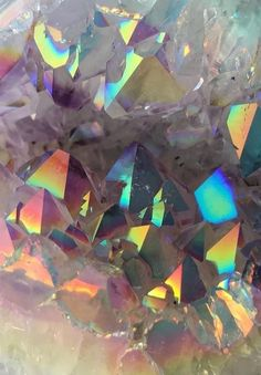 Shared by Find images and videos about rainbow, crystal and holographic on We Heart It - the app to get lost in what you love. Crystals And Gemstones, Stones And Crystals, Crystal Background, Image Deco, Crystal Aesthetic, Crystal Magic, Crystal Meanings, Rocks And Gems, Pretty Wallpapers