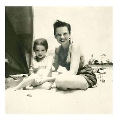 Judy Garland and Liza Minnelli enjoy a relaxing 4th of July weekend in Cape Cod, 1949.
