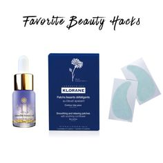 """Favorite Beauty Hacks - """"When I'm jet-lagged orhaven't been getting much beauty sleep, I use Klorane eye patches. I also love a face oil because my skin gets really dry from traveling—I rubthe excess on myhands and cuticles."""""""