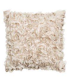 Beige Floral Pillows, Qt.2 | Lovegood Wedding & Event Rentals