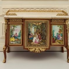 Comoda de Madame du Barry. museo del louvre. Pinta