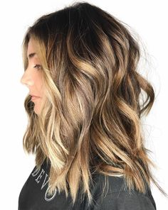 Blonde Balayage for Thick Brown Hair