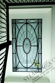 A classic Georgian flat leaded glass ceiling lense. Dome Ceiling, Glass Ceiling, Leaded Glass, Stained Glass, Trellis Design, Home Reno, Glass Domes, Skylight, Frosted Glass