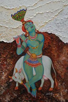 Composers have drawn poetic pictures of Krishna's many-splendoured form Bal Krishna, Radha Krishna Love, Shree Krishna, Lord Krishna Wallpapers, Radha Krishna Wallpaper, Kerala Mural Painting, Indian Art Paintings, Lord Krishna Images, Krishna Pictures