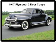 1947 Plymouth 2 Door Coupe  Auto Refrigerator / Tool Box  Magnet