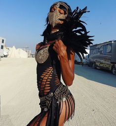 18 Pictures of Fashion People Basically Naked and Covered in Dust at Burning Man | Fashionista