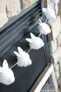 "{DIY} Bunny Pom Pom Garland screams ""Hoppy"" Easter!"