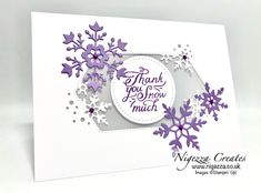 Nigezza Creates: Snowflake Wishes Thank You Card Tutorial