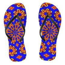 Adult Slim Straps with Blue Yellow Red Design Flip Flops Flip Flop Sandals, Flip Flops, Red Design, Blue Yellow, Slim, Abstract, Elegant, Gifts, Shopping
