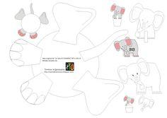 Moldes imprimibles en el blog, para adornar platos, vasos, cupcakes y marcadores de sitio en Fiestas Infantiles (Animales: elefante)