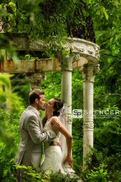 a wedding picture on the grounds of the club at hillbrook