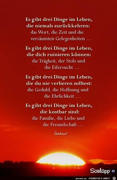 a picture for & # s heart & # there are three things.jpg – One of 14986 files in the category & # sayings & # on FUNPOT – Ideen finanzieren Blog Frases, German Quotes, German Words, Clever Quotes, Positive Inspiration, Man Humor, True Words, Better Life, Wisdom