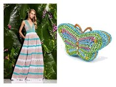 """""""Monte Carlo Lady, Green Butterfly, Crystal Clutch Bag"""" by acanthaluxury on Polyvore"""
