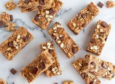 Full of walnuts, chocolate chunks and bananas, you're bound to love these naturally sweetened bars!