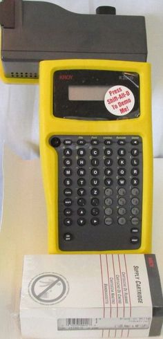 KROY K2000 Label Maker With New Supply Catridge WITHOUT Adapter #Kroy