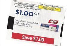 CREST Sensi-Relief Toothpaste 05/31/2014 ~ $1.00 on ONE (1)