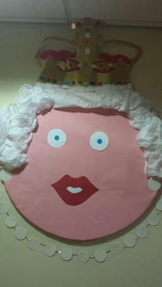 The Queens knickers classroom board