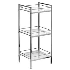 Bathroom shelf units chrome